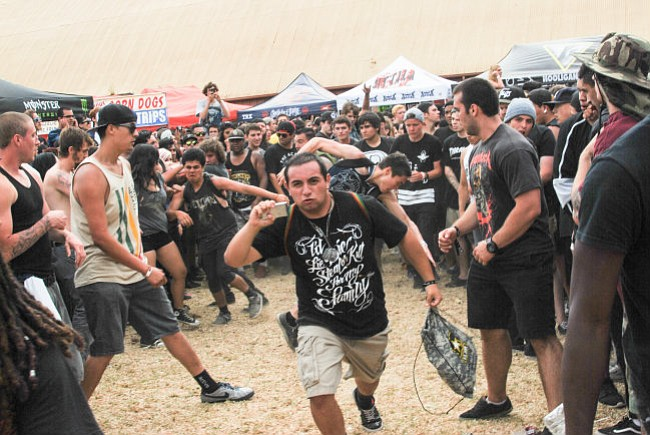 THE KIDS ARE ALRIGHT: The mosh pit is alive and well in Ventura, where the Vans Warped Tour spent its Sunday afternoon this week.