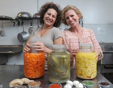 Cultured & Saucy's Simone Temkin-Wilcox (left) and sister Lauren Temkin
