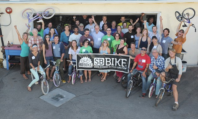 The Santa Barbara Bicycle Coalition celebrated the purchase of their Haley Street location (July 23, 2014)