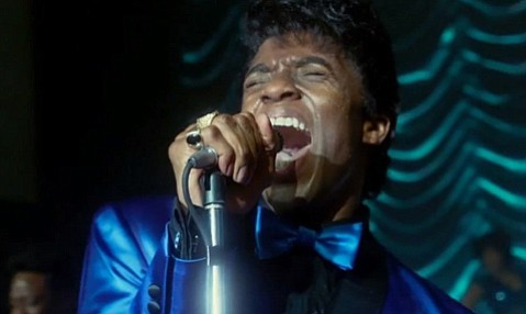 <b>GODFATHER OF SOUL:</b>  Chadwick Boseman captivates as the living, singing embodiment of James Brown in <i>Get on Up</i>.