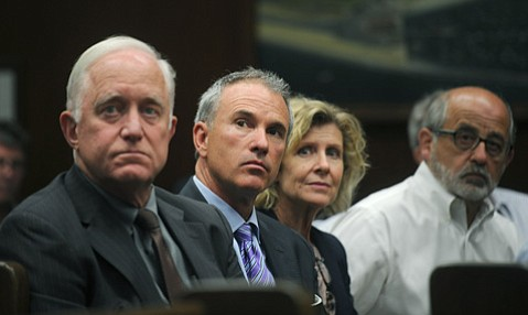 <b>UNPRECEDENTED:</b>  Despite some squeamishness by individual councilmembers, Thomas Tighe (center) of Direct Relief got the City Council to unanimously agree to sell the nonprofit eight acres of publicly owned property.