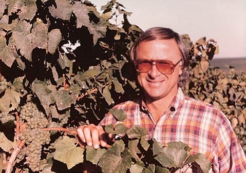 <b>GOOD OLE DAYS:</b>  Regional wine grape pioneer Louis Lucas is pictured in the early days of Santa Barbara wine.