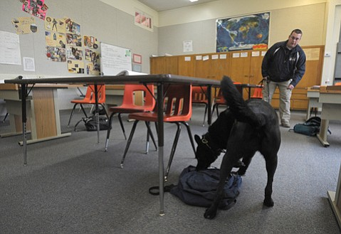 <b>Sniff-Sniff:</b>  For the third year in a row, drug dogs will search high school campuses for narcotics.