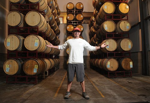 <b>THE YOUNG VETERAN:</b> Though only 35 years old, winemaker Jeff LeBard works his 19th harvest this season and his eighth for the Gainey Vineyard in the Santa Ynez Valley.