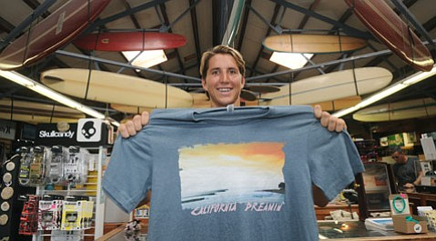 Conner Davidge of Savidge Apparel at the Surf-n-Wear's Beach House on State Street.