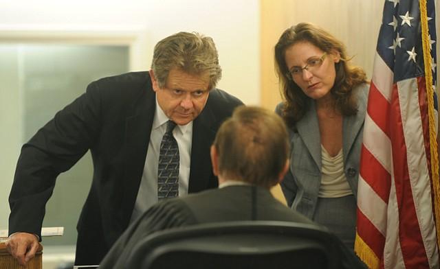 Defense attorney Christine Voss and prosecutor Ron Zonen.