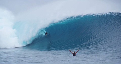 <b>THE SWELL SEASON:</b>  Thundercloud features a host of A-list surfers shredding the much-coveted Cloudbreak in Fiji during a monstrous swell in the summer of 2012.