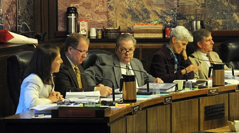 <b>GREEN LIGHT: </b> Three of the five commissioners okayed the county's plan to reduce greenhouse-gas emissions in the unincorporated areas.