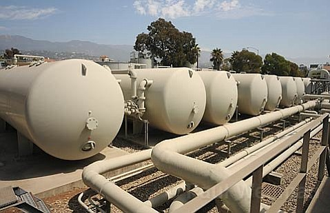 Santa Barbara's dormant water desalination plant.