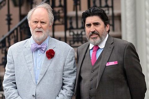 <b>SAME-SEX SUBTLETY:</b>  John Lithgow (left) and Alfred Molina embody their recently wed characters with stunning ease in the quiet, nuanced little film <i>Love Is Strange</i>.