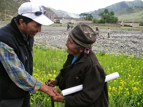 Tamdin Wangdu in Tibet