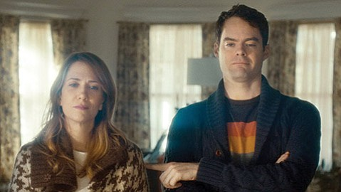 SLIM PICKINGS:  Kristen Wiig and Bill Hader star as suicidal siblings in the lite melodrama The Skeleton Twins.