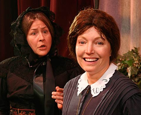 <b>AN UNMARRIED WOMAN:</b> Leslie Gangl Howe (left) and Avery Clyde star in The Heiress.