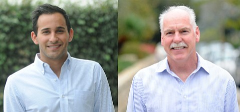 <b>HEAD-TO-HEAD:</b>  Candidates Jonathan Abboud (left) and Ethan Stone are running for one City College board seat.