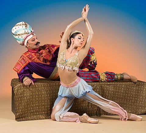 <b>STAR TURN: </b> State Street Ballet dancer Leila Drake Fossek entertains the Persian king in Scheherazade.