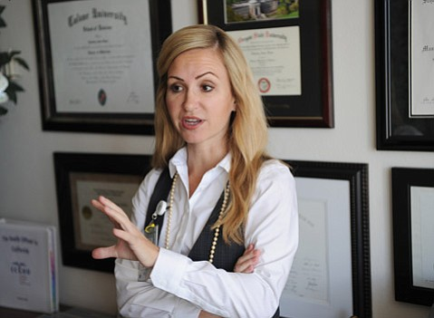 "<b>PRESCRIBING CALM:</b>  She said Santa Barbara County has plans in place, but Dr. Charity Thoman, of County Public Health, criticized the CDC's handling of Ebola preparedness: ""There is a lot of mistrust with the CDC and the general public."""