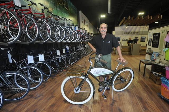 Bicycle Bob's founder Bob Zaratzian in the new Goleta shop.