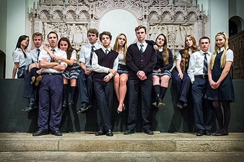 <b>TEENS IN UNIFORMS:</b> The <i>Bare</i> cast sports a tried-and-true look for this show, which is set in a coed Catholic boarding school.