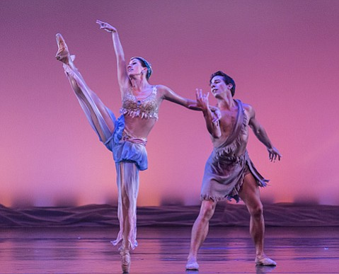 <b>ANCIENT GRACE:</b>  Leila Drake and Ryan Camou shined as the Siren Queen and the Traveler in State Street Ballet's one-night-only performance of <i>Scheherazade</i> at the Granada Theatre.