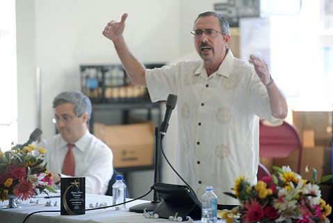<b>RACIALLY POLARIZED:</b>  With changing demographics, attorney Barry Cappello argued that white voters will soon need district elections for white candidates to get elected. For now, he argues the change in voting schemes is mandated by state law to rectify lack of Latinos on the council.
