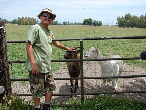 <b>LIVESTOCK LOVE:</b> Marine veteran Phil Northcutt found solace in raising goats and other animals when he returned from Iraq.