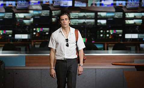<b>THE TWO JAKES:</b>  Jake Gyllenhaal channels his darker side as an amoral crime-scene videographer in <i>Nightcrawler</i>.