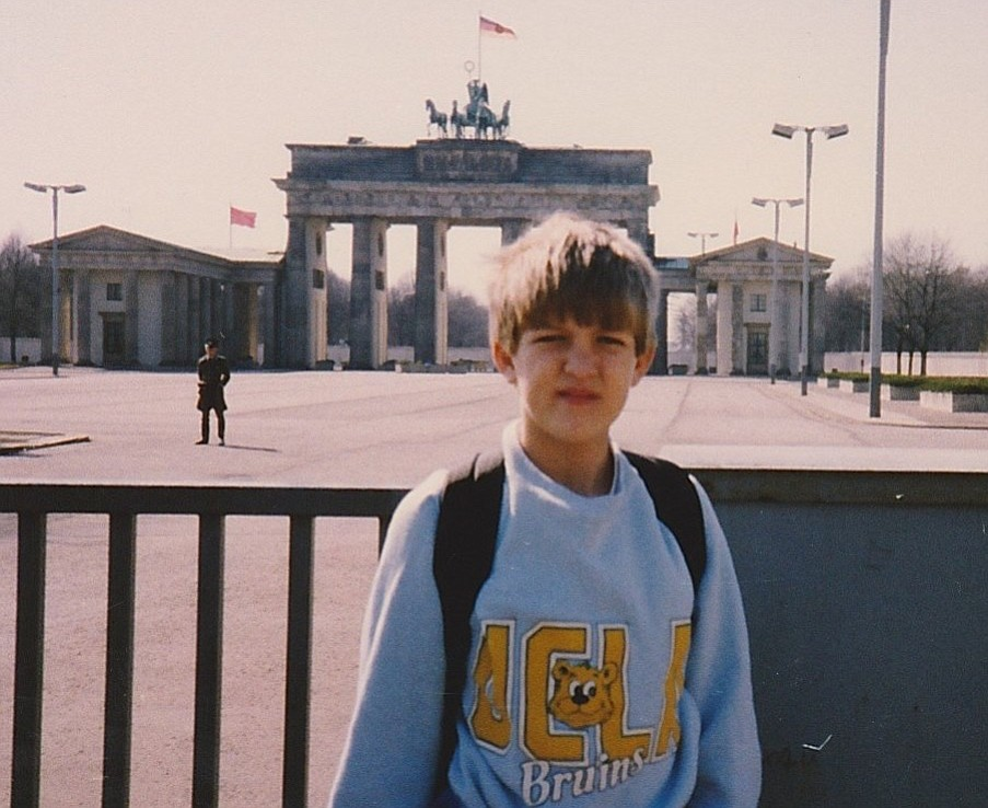 Eric Friedman at the Berlin Wall in 1988.