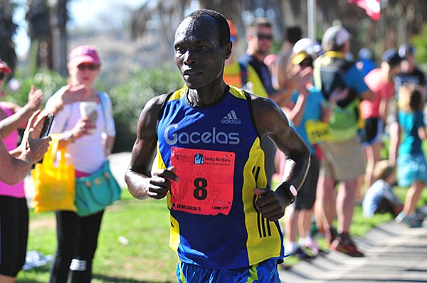 Sammy Mutai became a first-time winner of the Santa Barbara Marathon in a time of 2:31.40.