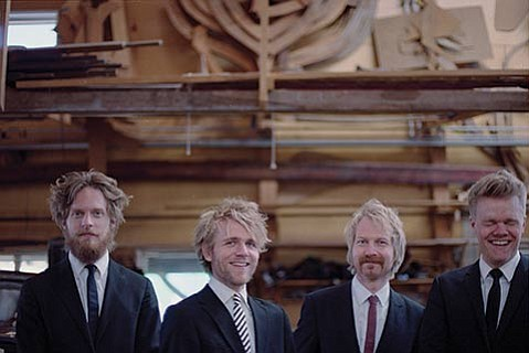 <b>SERIOUSLY GOOD:</b>  Don't let the laid-back look and humor of the Danish String Quartet fool you — these four young men play some stunning, serious music.
