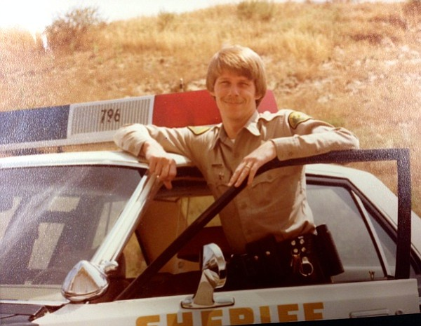 Don Patterson starting out patrol duty in Santa Barbara at age 23 in 1979