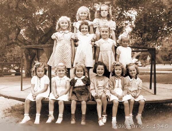 Children at Oak Park circa 1940
