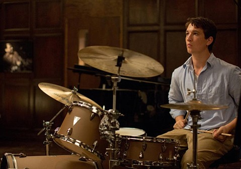 <b>STICKS AND STONES:</b>  <i>Whiplash</i> stars Miles Teller in a gripping turn as a die-hard music student under the militant tutelage of an acerbic conductor.