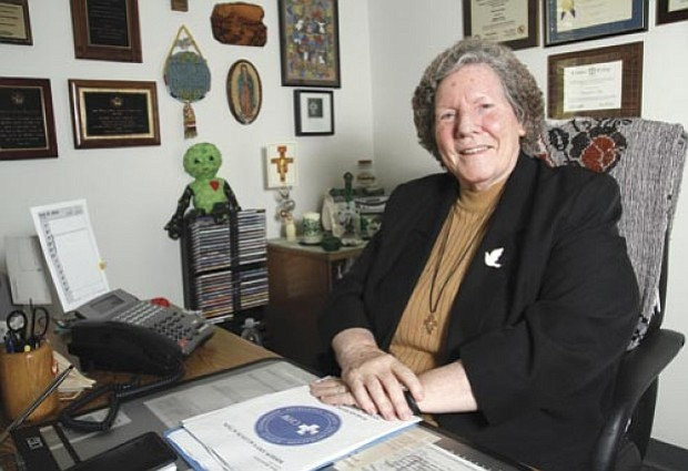 Sister Janet Corcoran has been a nun with the Sisters of St. Francis of Penance and Christian Charity since 1960.