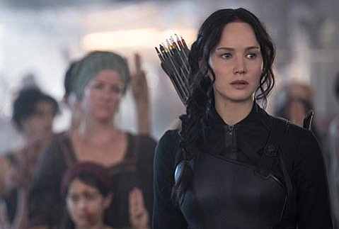 <b>J-LAW OF THE LAND:</b>  Reprising her role as Katniss, Jennifer Lawrence is easily the best part of this plodding lead-up to the <i>Hunger Games</i> finale.