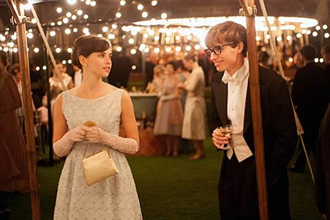 <b>EQUILIBRIUM:</b>  Eddie Redmayne and Felicity Jones both deliver powerful performances in the Stephen and Jane Hawking biopic <i>The Theory of Everything</i>.