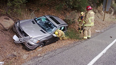 Firefighters respond to Highway 154 accident