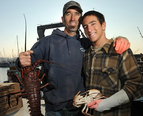 <b>SEAFOOD TO YOU:</b>  Sam Shrout and his son, Kevin (seen here back in 2008), are fishermen who sell their catch to Community Seafood.