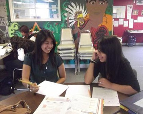 Homework time at Isla Vista's old Teen Center