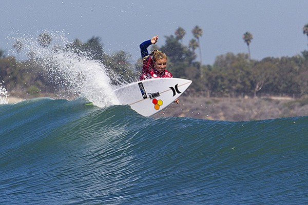 Lakey Peterson surfing on the ASP World Tour this September.