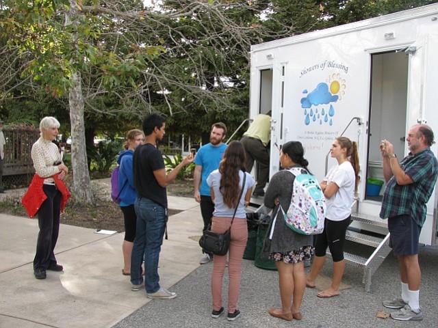 Portable shower trailer opens in Isla Vista