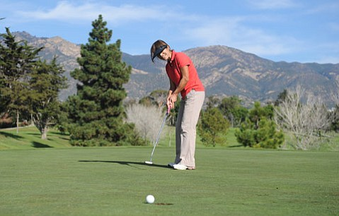 <b>One of the Regulars:</b>  Fumie Sato has golfed the public course two to three times a week for more than 10 years.