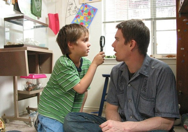 Future SBIFF award recipients Ellar Coltrane (left) and Ethan Hawke star in <em>Boyhood</em>.