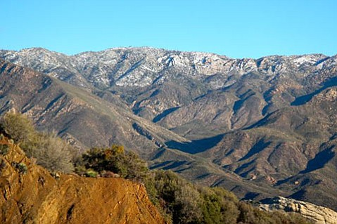 Pine Mountain with a dusting of snow