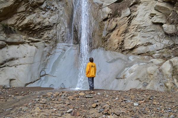The author admiring the Potrero John Falls