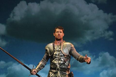 Tim Rogan plays Lancelot in <i>Camelot</i>.
