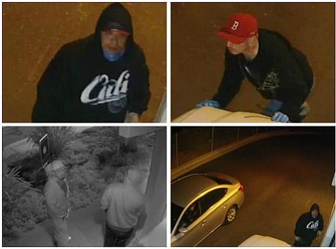 Video surveillance stills of unidentified suspects.