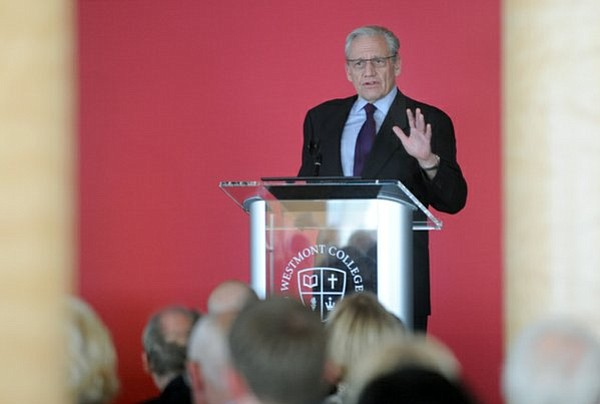 Bob Woodward speaks at the Coral Casino during a Westmont College sponsored lunch.