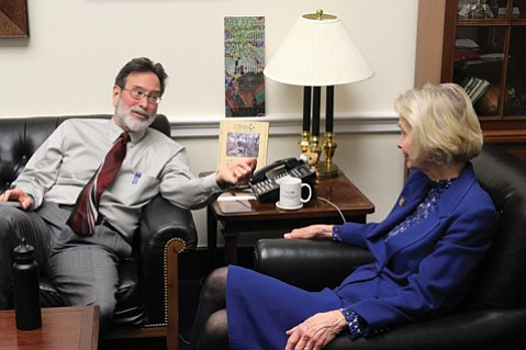<b>GUEST OF HONOR:</b>  Richard Martinez, father of Isla Vista shooting victim Christopher Michaels-Martinez and a gun-safety advocate, joined Rep. Lois Capps for the president's address.