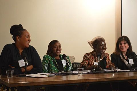 From left to right: Amina Doherty, Yvette Kathurima, Musimbi Kanyoro, and Janet Wolf