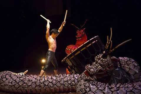 <b>BANGARANG! </b> Kodo's Mystery tour fuses its famous taiko numbers with new Kabuki elements.